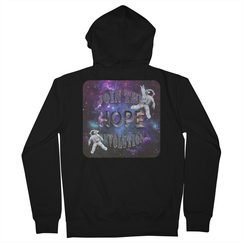 Hope Revolution. Men's French Terry Zip-Up Hoody by Andrea Snider's Artist Shop