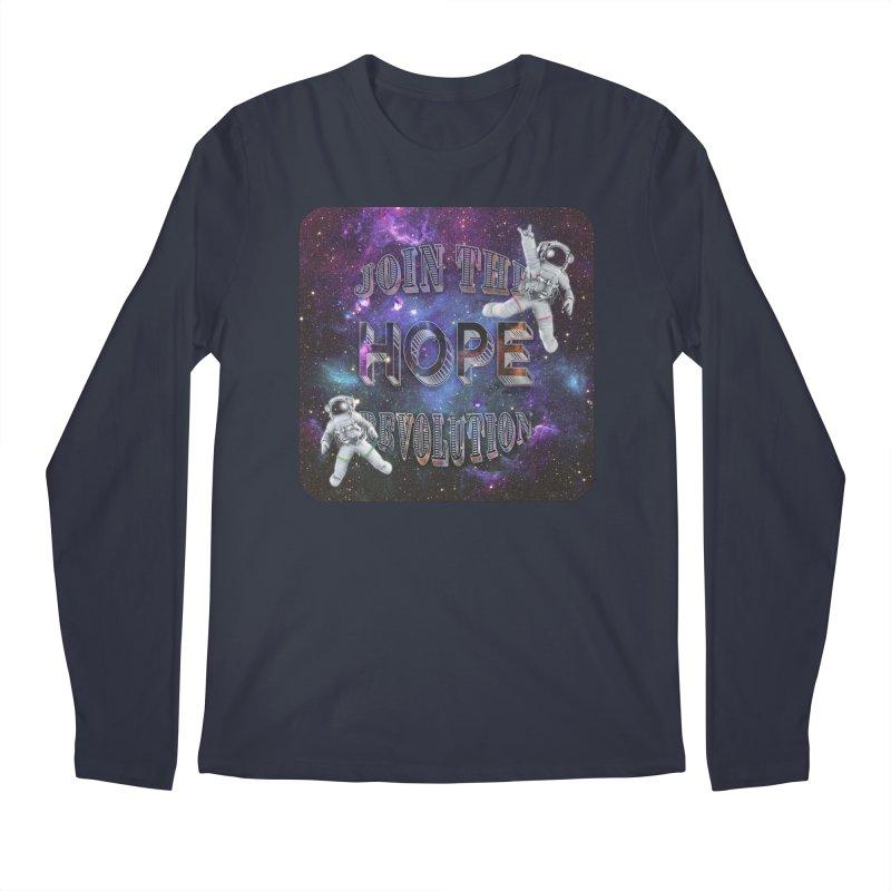 Hope Revolution. Men's Regular Longsleeve T-Shirt by Andrea Snider's Artist Shop