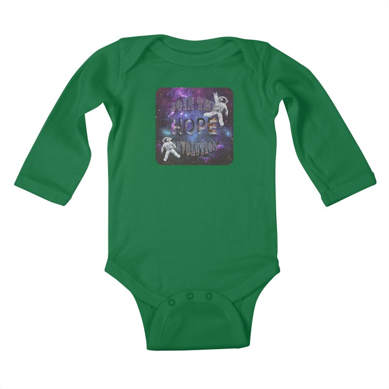 Hope Revolution. Kids Baby Longsleeve Bodysuit by Andrea Snider's Artist Shop