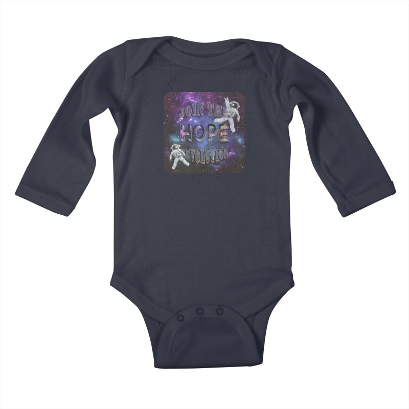 Hope Revolution. Kids Baby Longsleeve Bodysuit by Andrea Snider's Artist Shop