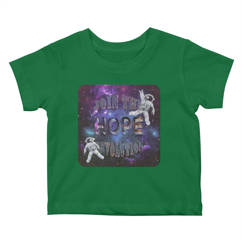 Hope Revolution. Kids Baby T-Shirt by Andrea Snider's Artist Shop