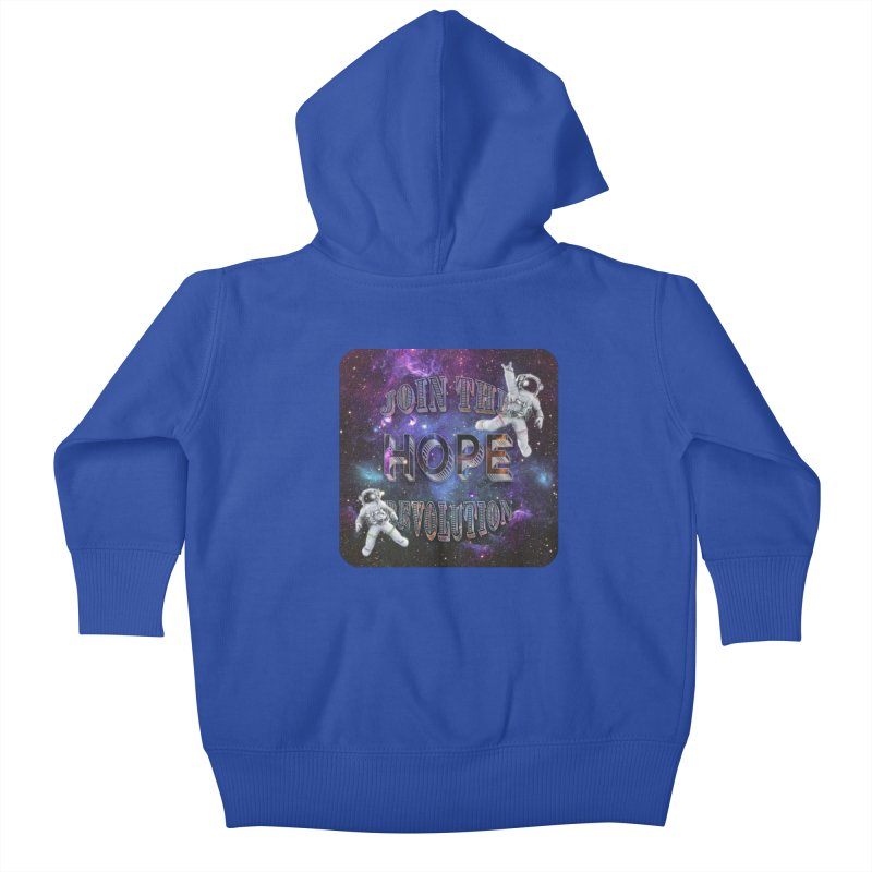 Hope Revolution. Kids Baby Zip-Up Hoody by Andrea Snider's Artist Shop