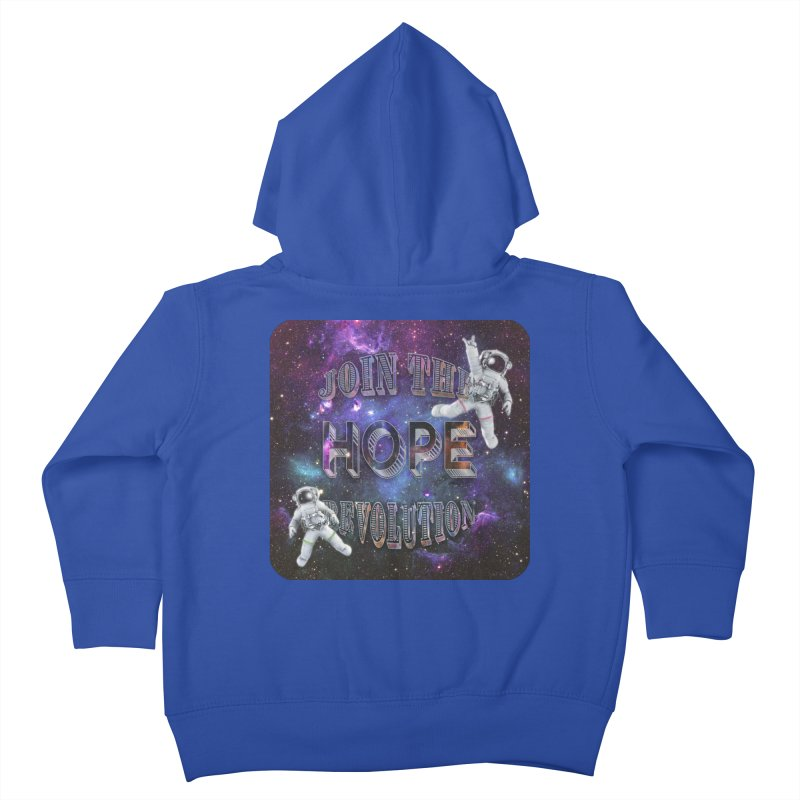 Hope Revolution. Kids Toddler Zip-Up Hoody by Andrea Snider's Artist Shop