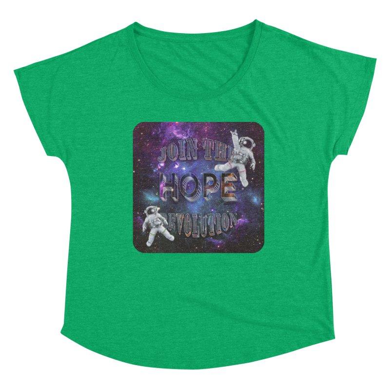 Hope Revolution. Women's Scoop Neck by Andrea Snider's Artist Shop