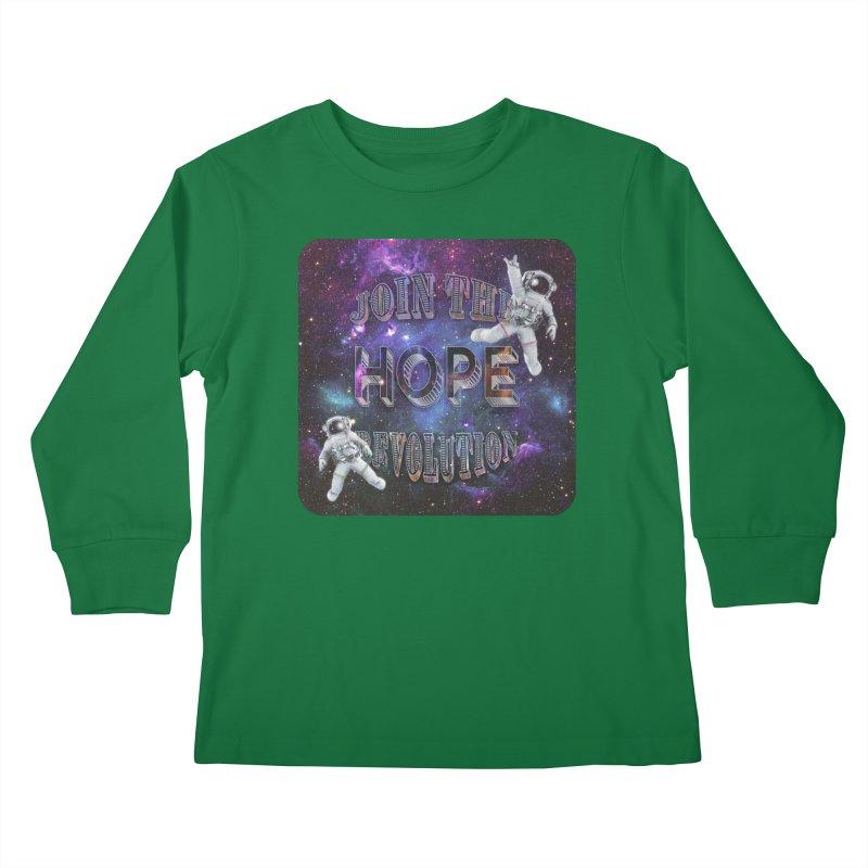 Hope Revolution. Kids Longsleeve T-Shirt by Andrea Snider's Artist Shop