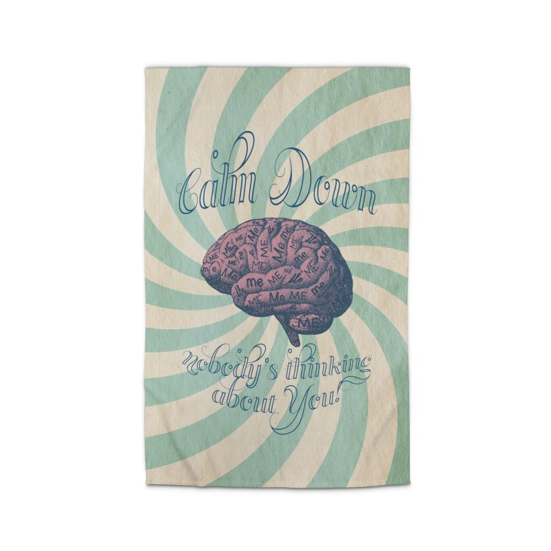 Calm Down. Home Rug by Andrea Snider's Artist Shop