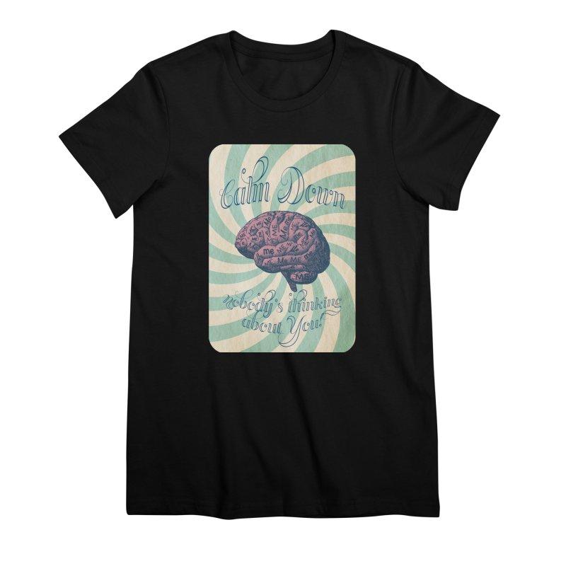 Calm Down. Women's Premium T-Shirt by Andrea Snider's Artist Shop
