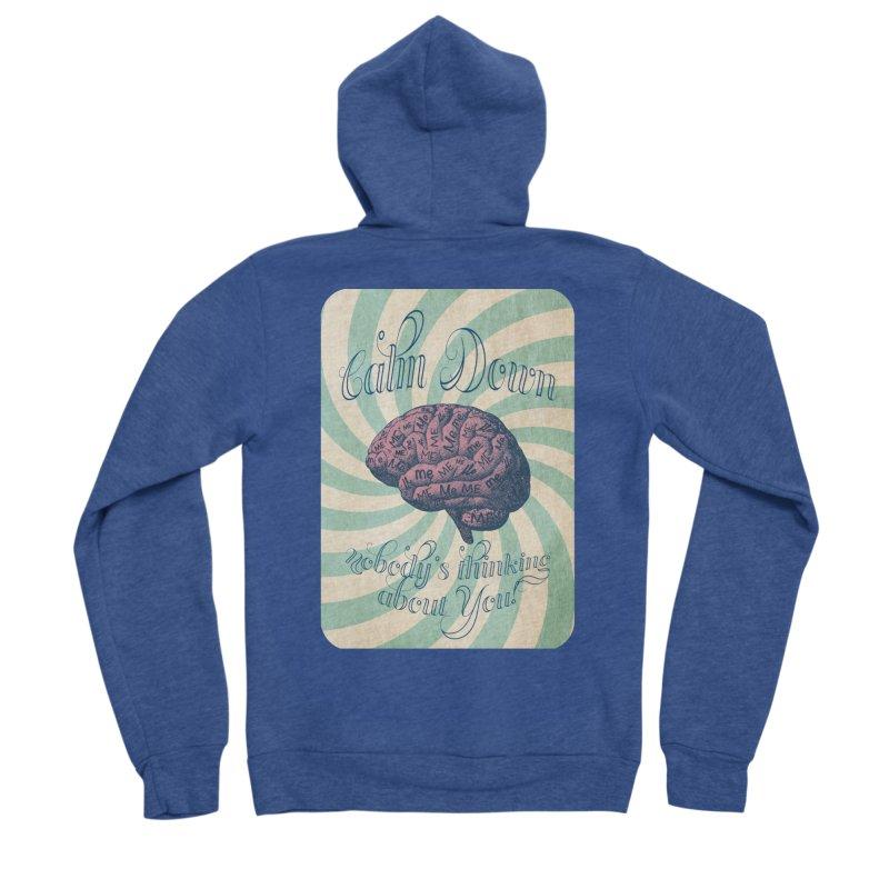 Calm Down. Men's Sponge Fleece Zip-Up Hoody by Andrea Snider's Artist Shop