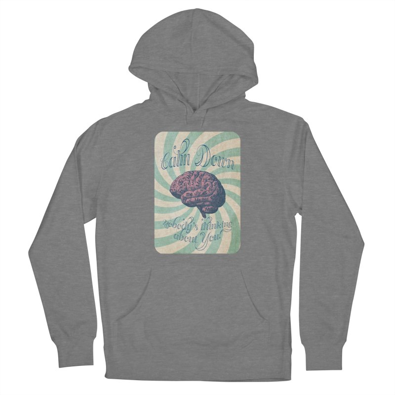 Calm Down. Men's Pullover Hoody by Andrea Snider's Artist Shop