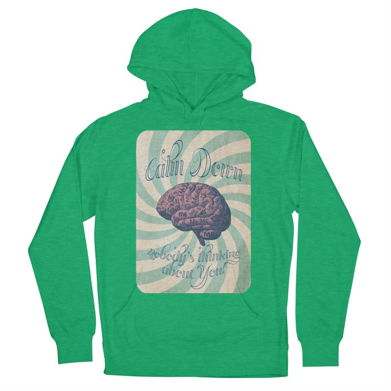 Calm Down. Men's French Terry Pullover Hoody by Andrea Snider's Artist Shop