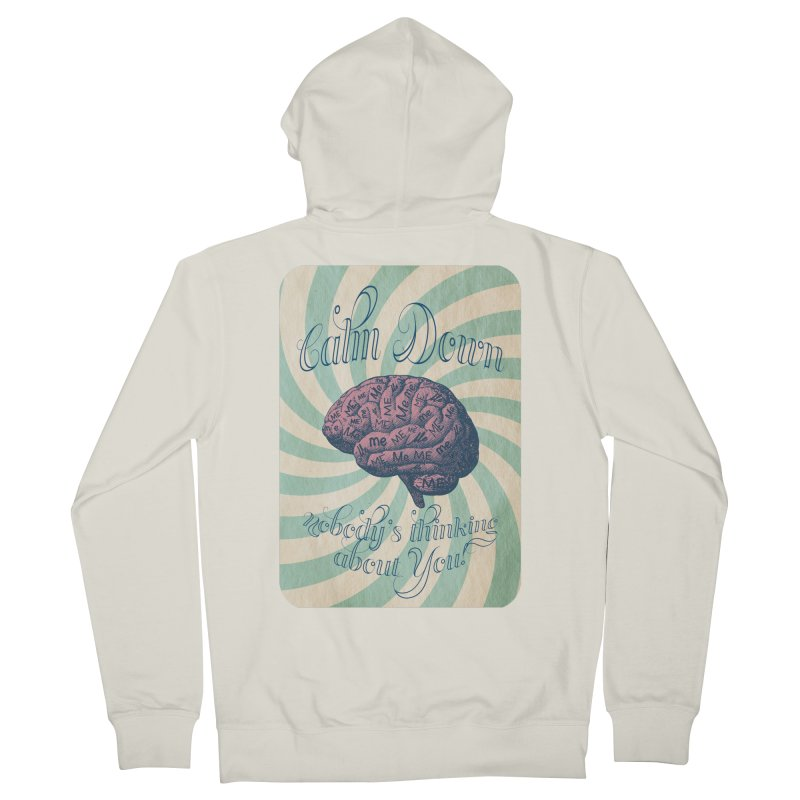 Calm Down. Women's French Terry Zip-Up Hoody by Andrea Snider's Artist Shop