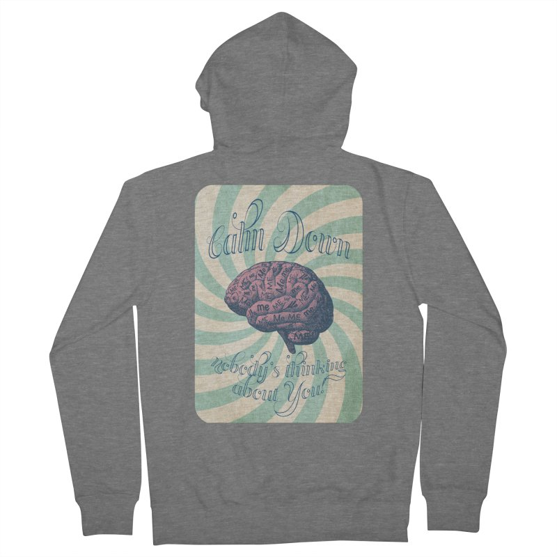 Calm Down. Men's French Terry Zip-Up Hoody by Andrea Snider's Artist Shop
