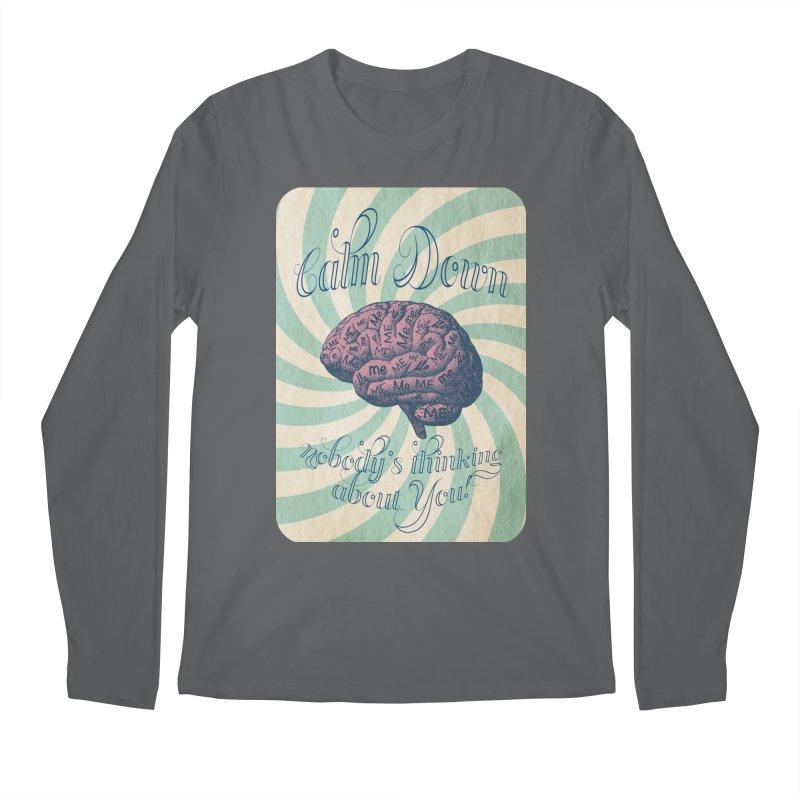 Calm Down. Men's Regular Longsleeve T-Shirt by Andrea Snider's Artist Shop