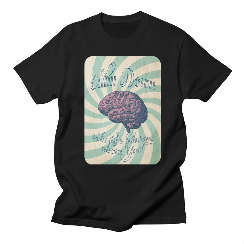 Calm Down. Men's T-Shirt by Andrea Snider's Artist Shop