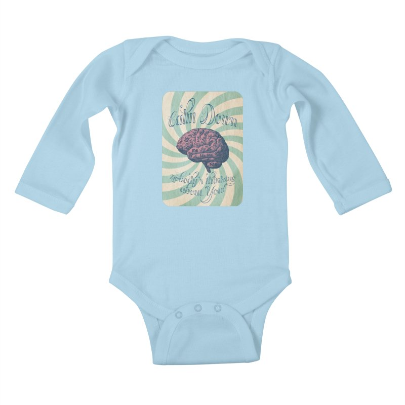 Calm Down. Kids Baby Longsleeve Bodysuit by Andrea Snider's Artist Shop