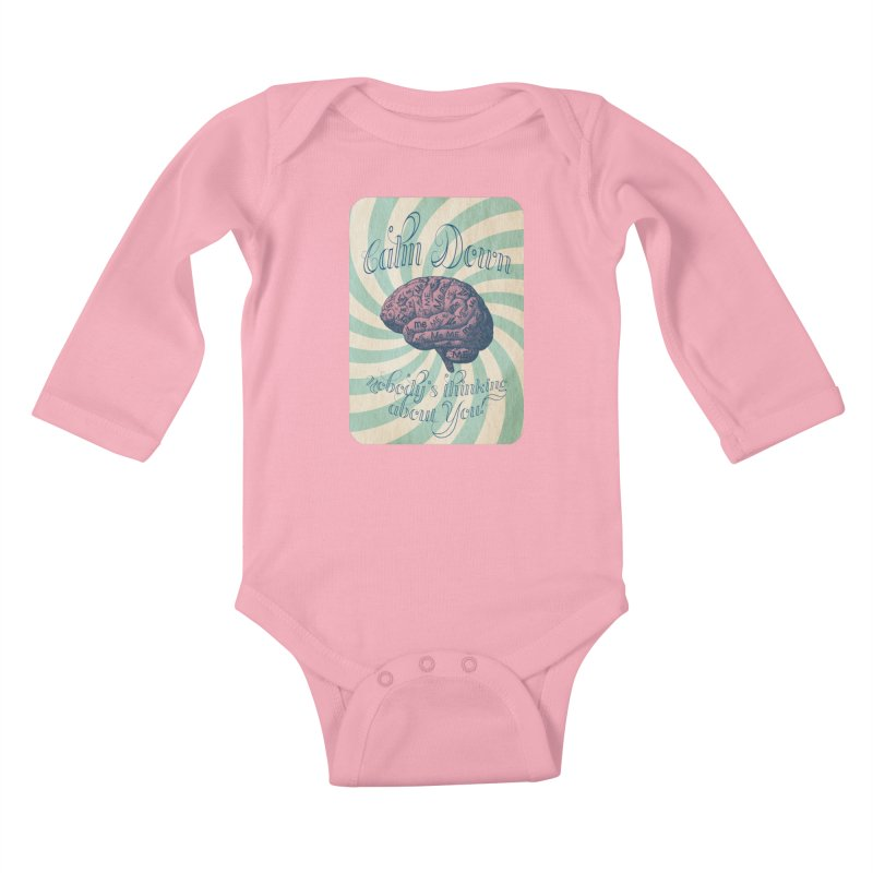 Calm Down. Kids Baby Longsleeve Bodysuit by Andrea Snider's Artist Shop