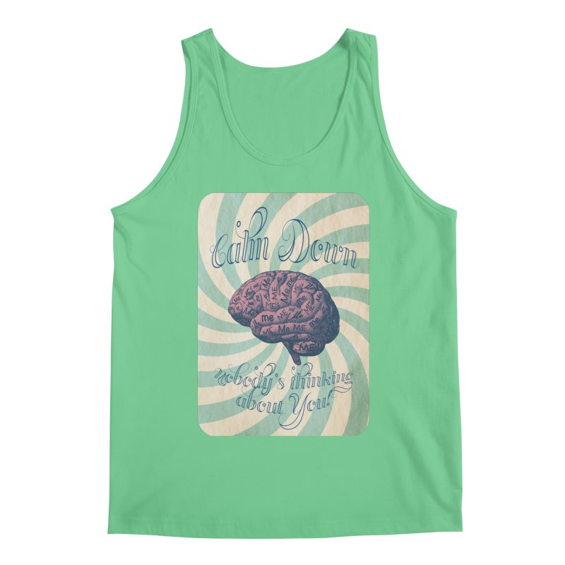 Calm Down. Men's Tank by Andrea Snider's Artist Shop