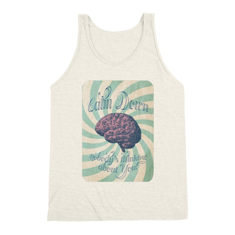 Calm Down. Men's Triblend Tank by Andrea Snider's Artist Shop