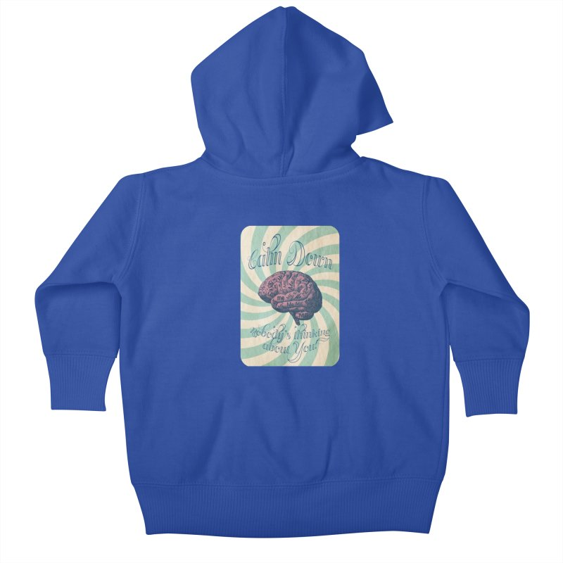 Calm Down. Kids Baby Zip-Up Hoody by Andrea Snider's Artist Shop
