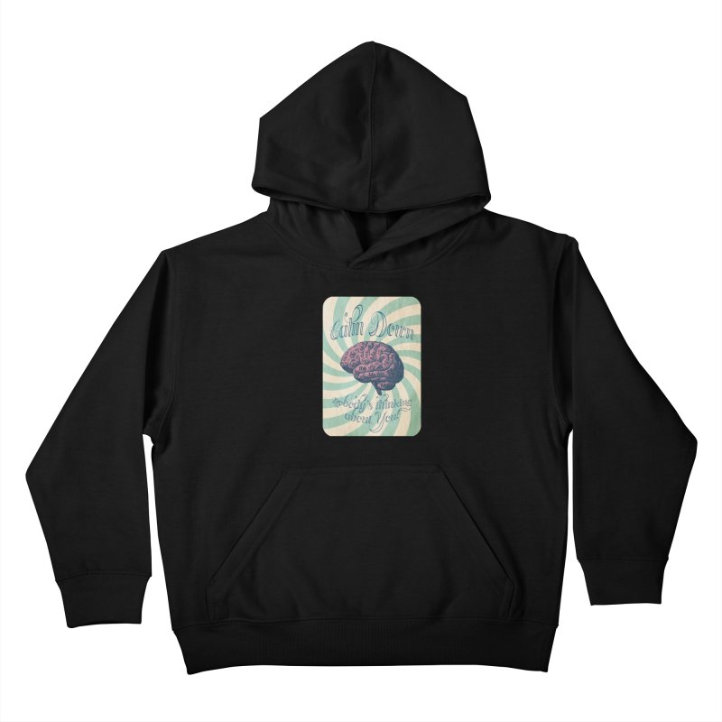 Calm Down. Kids Pullover Hoody by Andrea Snider's Artist Shop