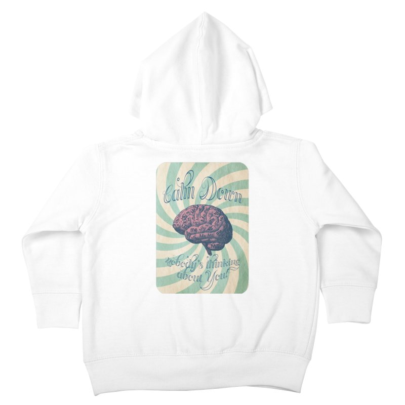Calm Down. Kids Toddler Zip-Up Hoody by Andrea Snider's Artist Shop