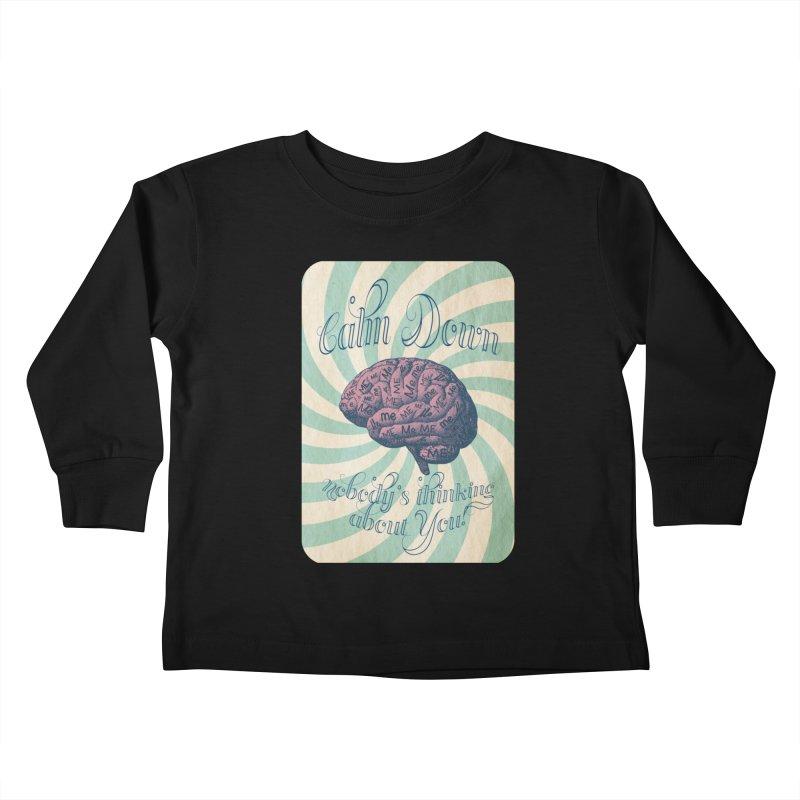 Calm Down. Kids Toddler Longsleeve T-Shirt by Andrea Snider's Artist Shop