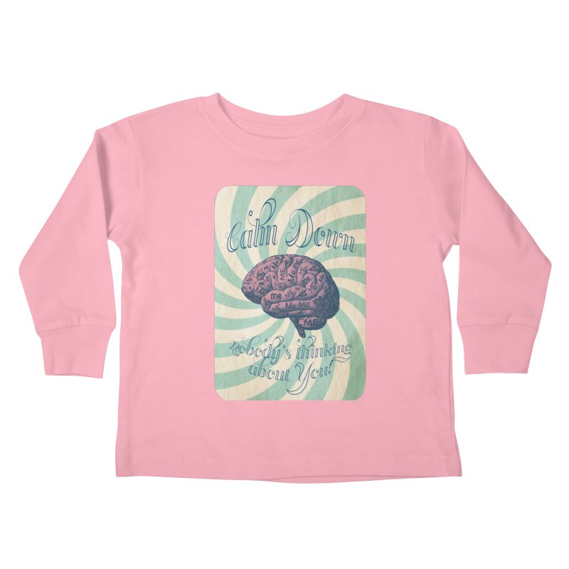 Calm Down. Kids Toddler Longsleeve T-Shirt by Andrea Snider's Artist Shop