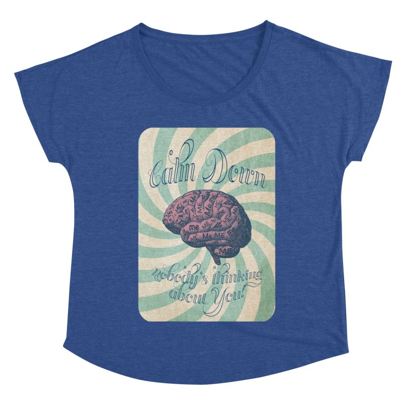 Calm Down. Women's Scoop Neck by Andrea Snider's Artist Shop