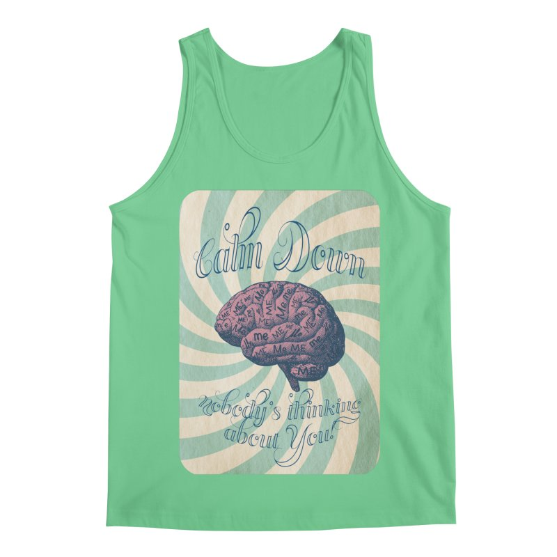 Calm Down. Men's Regular Tank by Andrea Snider's Artist Shop