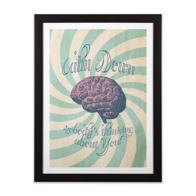 Calm Down. Home Framed Fine Art Print by Andrea Snider's Artist Shop