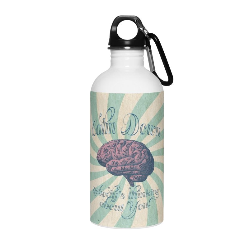 Calm Down. Accessories Water Bottle by Andrea Snider's Artist Shop