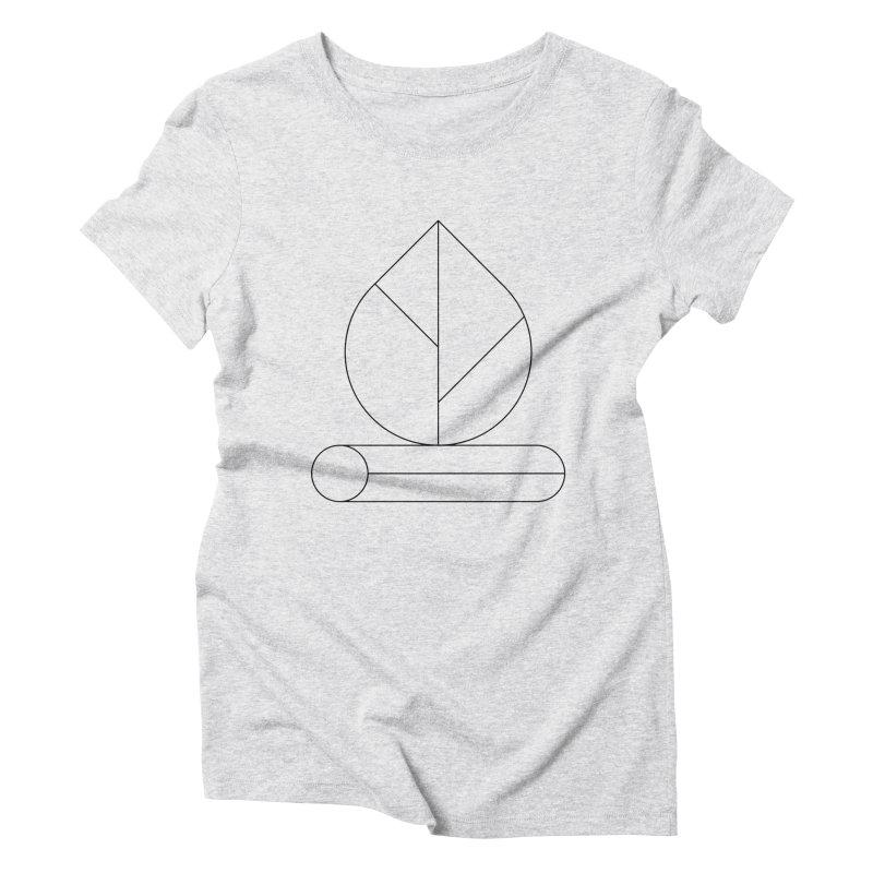Firewood Women's Triblend T-Shirt by Andreas Wikström — Shop