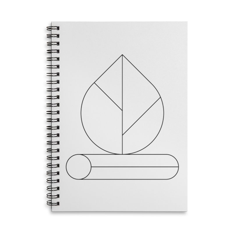 Firewood Accessories Lined Spiral Notebook by Andreas Wikström — Shop