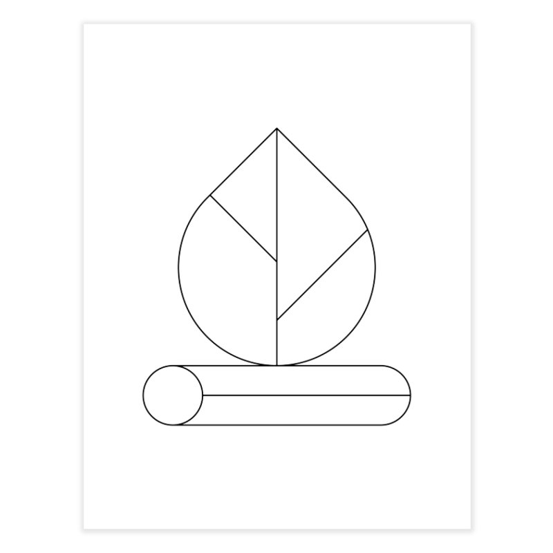Firewood Home Fine Art Print by Andreas Wikström — Shop