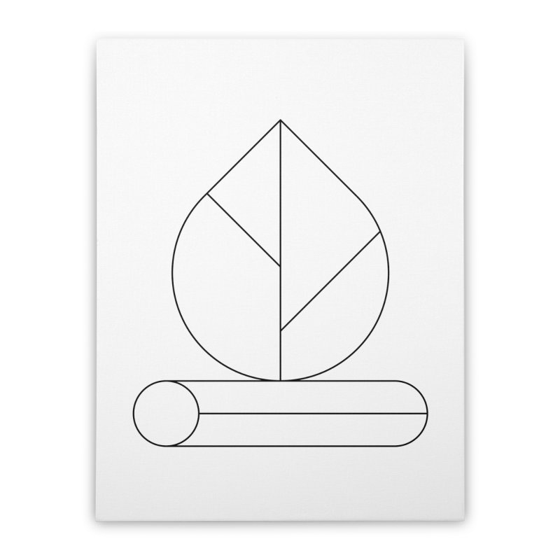 Firewood Home Stretched Canvas by Andreas Wikström — Shop