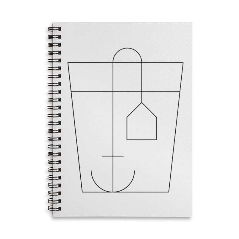 Heavy drinking Accessories Lined Spiral Notebook by Andreas Wikström — Shop