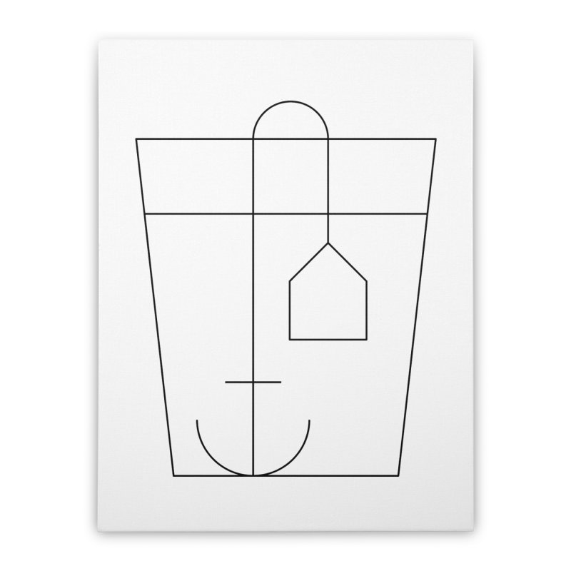 Heavy drinking Home Stretched Canvas by Andreas Wikström — Shop
