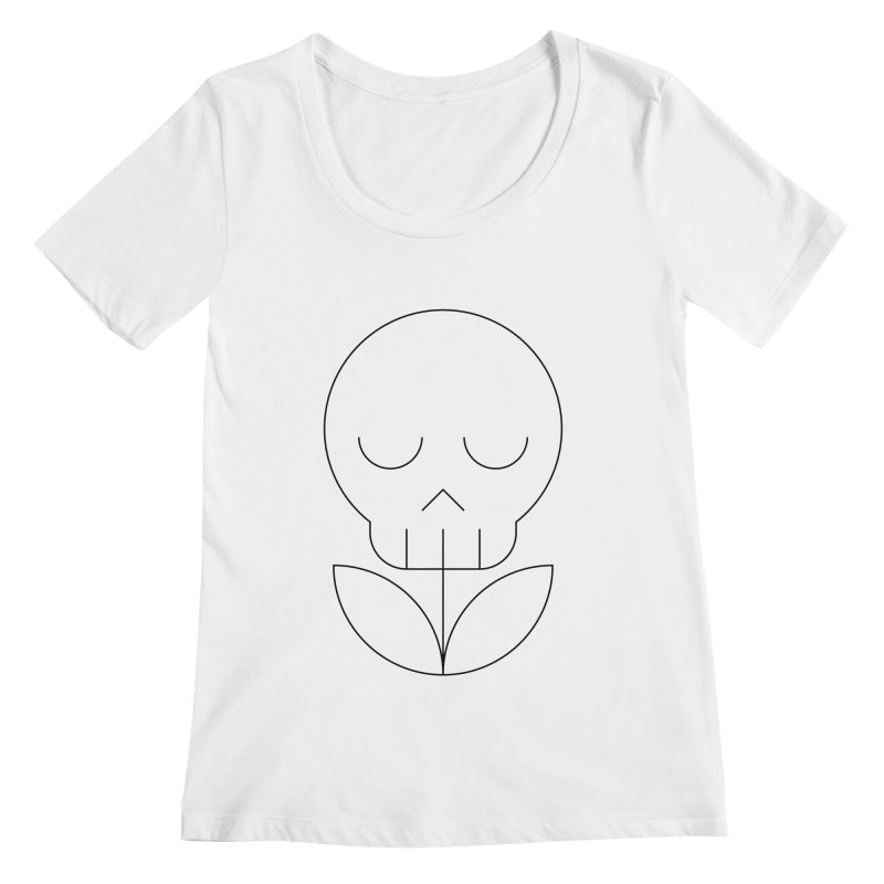 Death from a rose Women's Regular Scoop Neck by Andreas Wikström — Shop