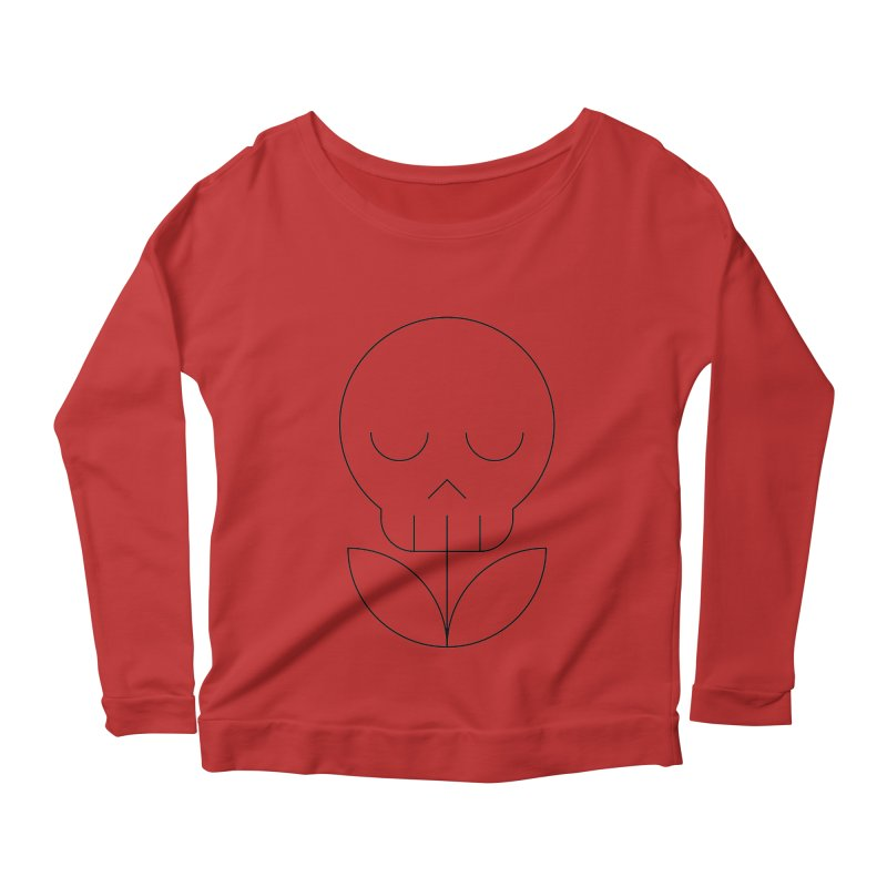 Death from a rose Women's Longsleeve Scoopneck  by Andreas Wikström — Shop