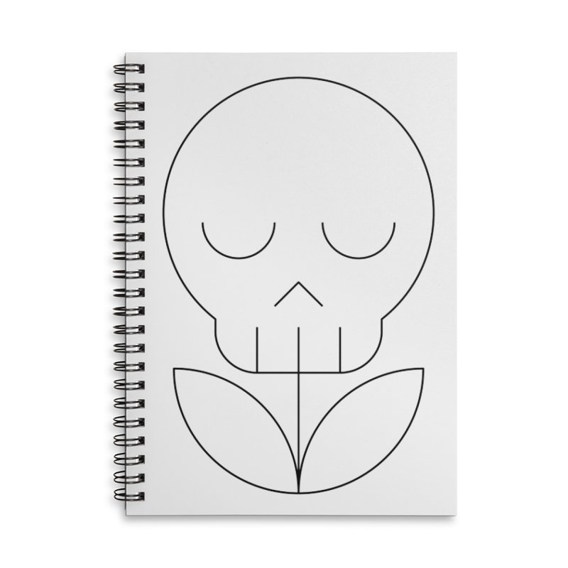 Death from a rose Accessories Lined Spiral Notebook by Andreas Wikström — Shop