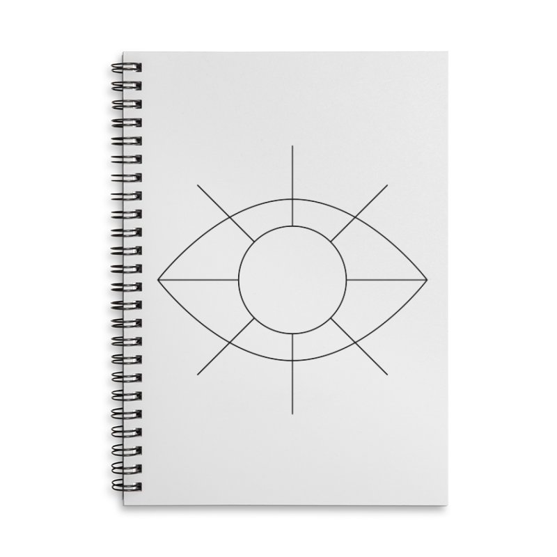 Eye see the sun Accessories Lined Spiral Notebook by Andreas Wikström — Shop
