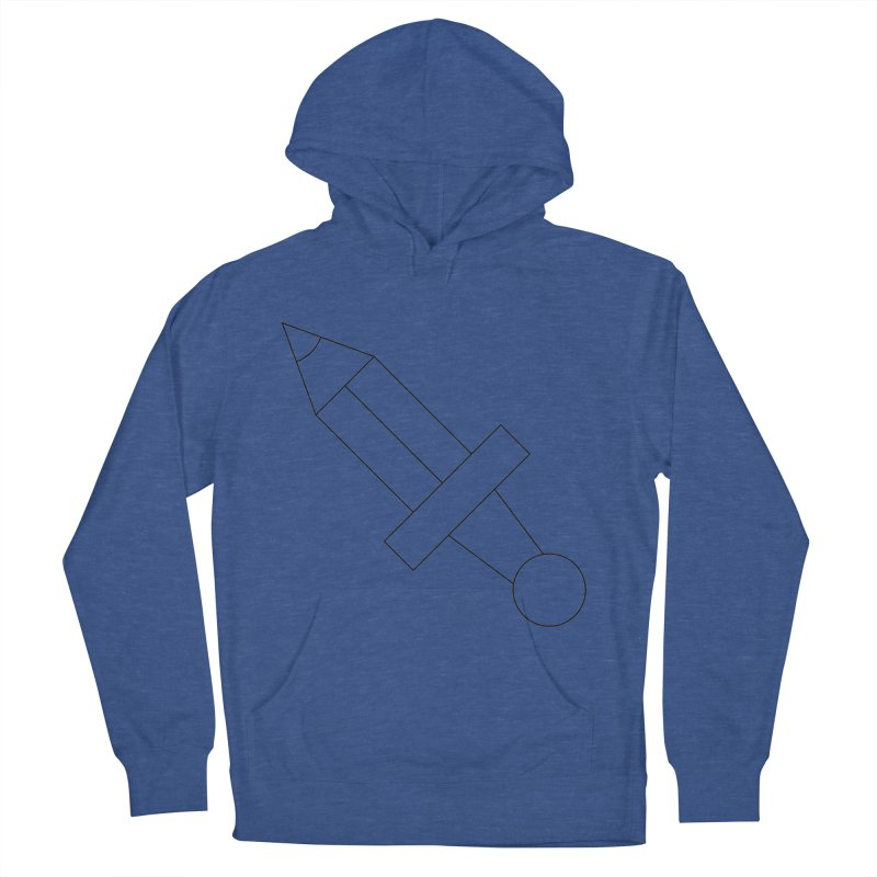 Oh, Mighty pen Women's French Terry Pullover Hoody by Andreas Wikström — Shop