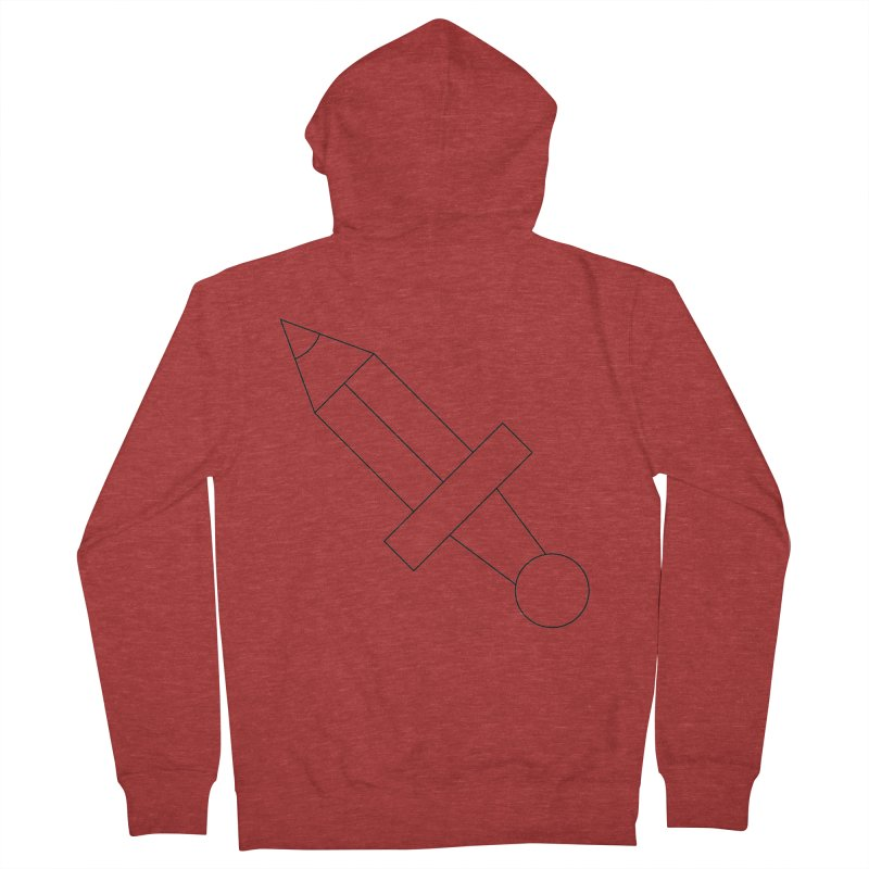 Oh, Mighty pen Men's French Terry Zip-Up Hoody by Andreas Wikström — Shop