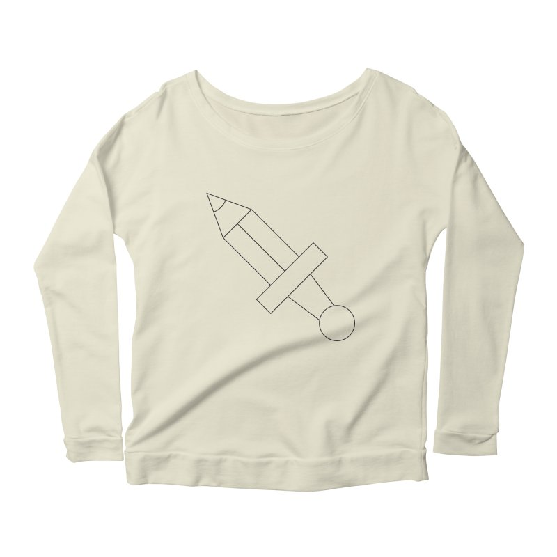 Oh, Mighty pen Women's Scoop Neck Longsleeve T-Shirt by Andreas Wikström — Shop