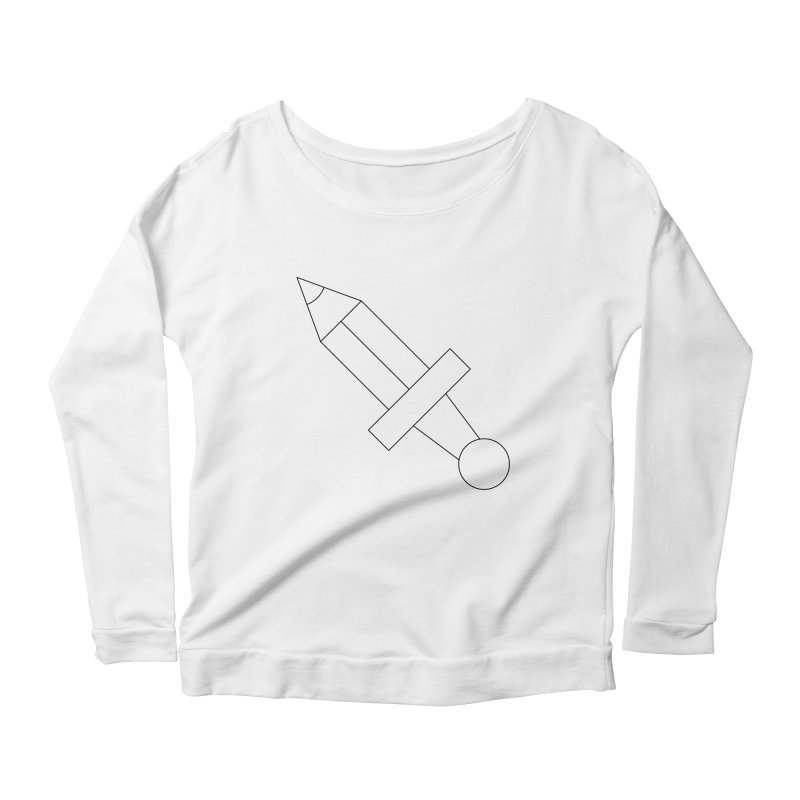 Oh, Mighty pen Women's Scoop Neck Longsleeve T-Shirt by Andreas Wikström — Shop