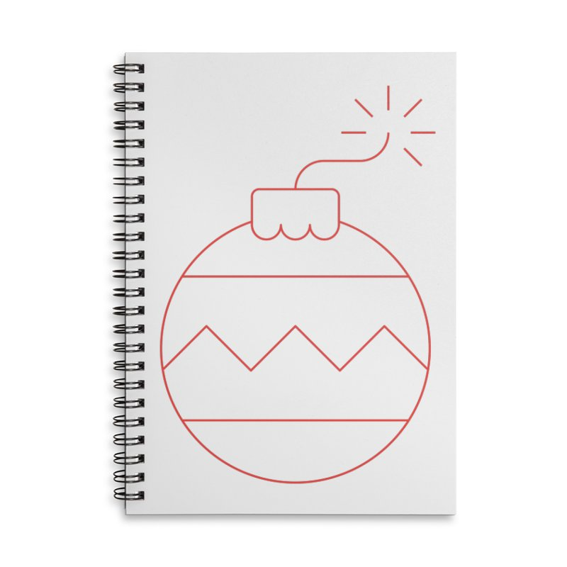 Holiday Stress Ball Accessories Lined Spiral Notebook by Andreas Wikström — Shop