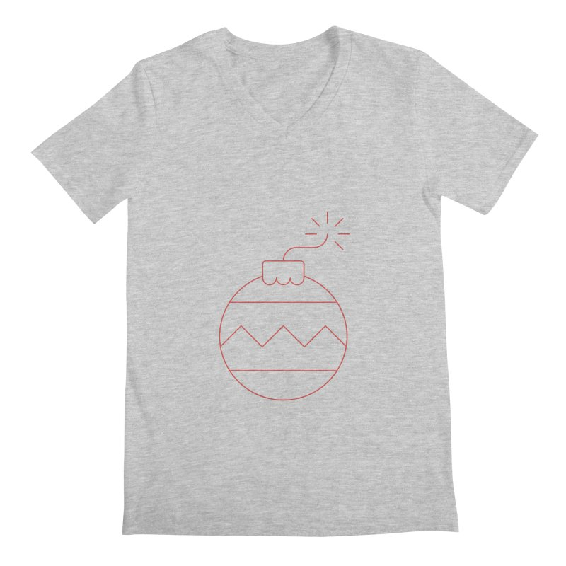 Holiday Stress Ball Men's Regular V-Neck by Andreas Wikström — Shop