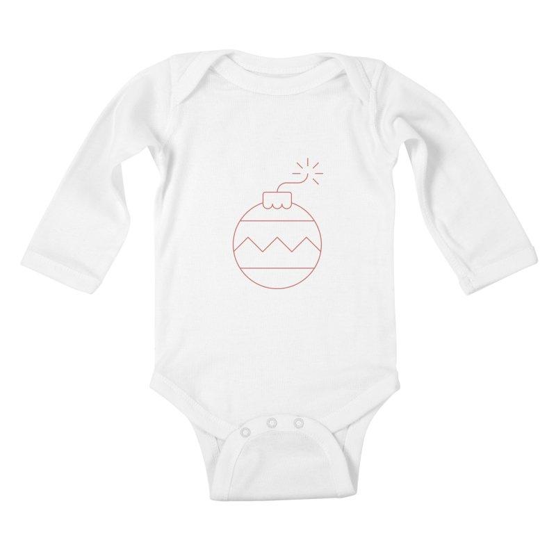 Holiday Stress Ball Kids Baby Longsleeve Bodysuit by Andreas Wikström — Shop