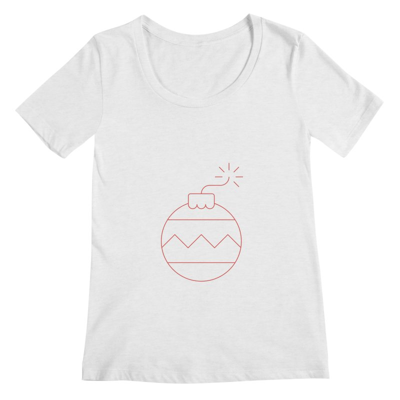 Holiday Stress Ball Women's Scoopneck by Andreas Wikström — Shop