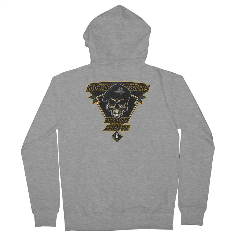Death from Above Men's French Terry Zip-Up Hoody by andreusd's Artist Shop